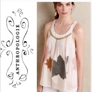 Anthropologie Floreat Pia Beaded strappy top 4